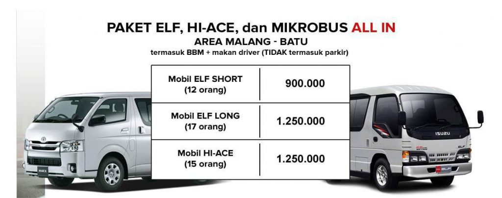 Sewa Rental Mobil Elf Hiace Mikrobus Malang All In